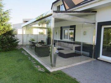 Puertas de Cristal SAP - Cierre de cristal cierre vivienda en Cabueñes Gijon - Sistemas Automáticos de Paso