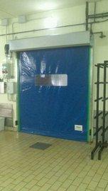 Puertas de Cristal SAP - Puerta de lona. Embutidos La Unión - Sistemas Automáticos de Paso