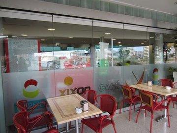 Puertas de Cristal SAP - Cierre de cirstal  Cafetería ADIF - Sistemas Automáticos de Paso