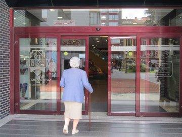 Puertas de Cristal SAP - Puerta de cristal automática. Centro Comercial San Agustín - Sistemas Automáticos de Paso